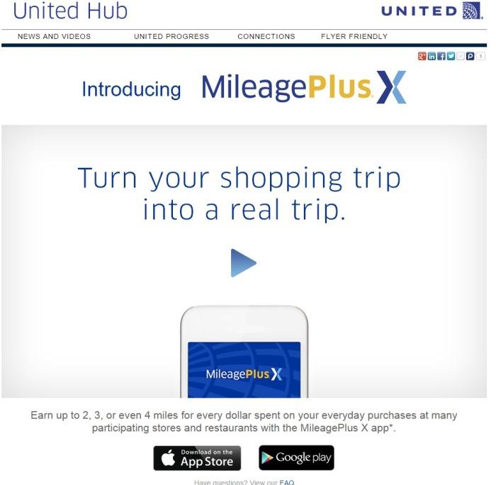 United Hub MileagePlus X