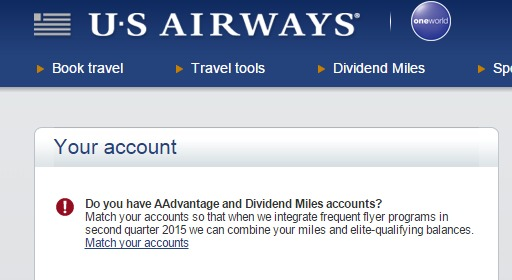 us air combine acct on acct page