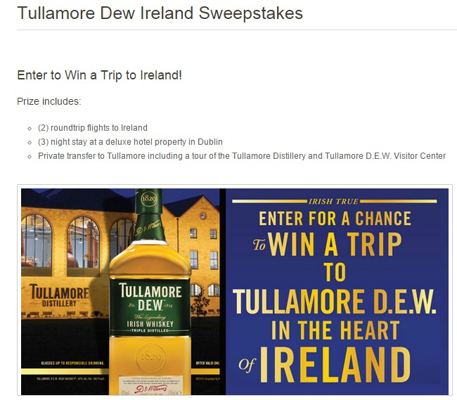 tullamore Dew Ireland sweeps