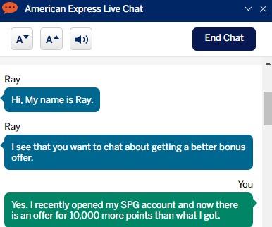 amex chat 1