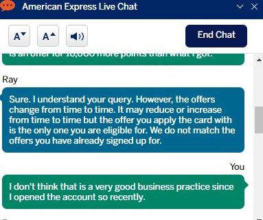 Amex chat 2