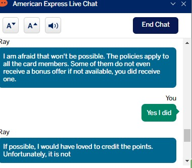 Amex chat 4
