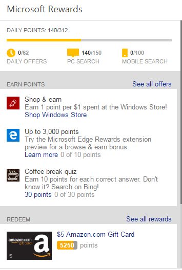 Is Microsoft Rewards the worst earn per $1? | CliQbait
